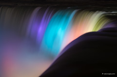 Niagara Abstract (rpimages.com) Tags: longexposure color water misty night niagarafalls fast niagara colourful