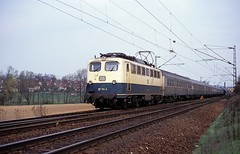 110 154  Illingen  03.04.91 (w. + h. brutzer) Tags: analog train germany deutschland nikon 110 eisenbahn railway zug trains db locomotive lokomotive e10 elok eisenbahnen illingen eloks webru