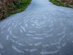 Hadrians_cycleway_7848-3 (allybeag) Tags: morning snow ice words seaside frost drawing path patterns numbers cumbria cyclepath criffel hadrians cycleway maryport crosscanonby