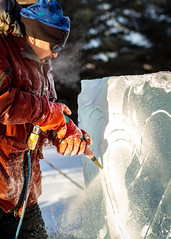 The heart of the ice (frostnip907) Tags: winter art ice alaska artist carving dremel powertools powertool icecarving iceart canon7d
