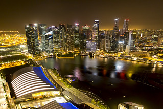 View from the Marina Sands Bay Singapore