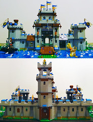 Castle MOC (front and back view) (Alex Tass) Tags: playing building castle history king play dragon lego bricks lion kingdom medieval historic knights soldiers knight fortress moc kingdoms talex myowncreation rolug myownconstruction