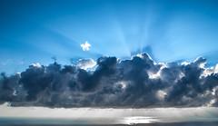 Sky mountain (dimg) Tags: sea cloud sunrise view sony greece crete a100