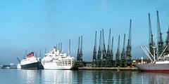 Southampton Docks, QUEEN MARY and ORIANA (Keith Halton) Tags: docks ship hampshire queenmary southampton shipping cunard oriana liner
