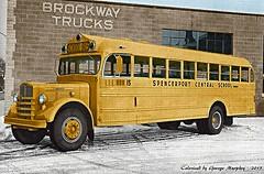 Brockway School Bus (gdmey) Tags: colorized brockway huskie brockwayschoolbus