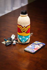 She's ready for the day (Pixeleyes) Tags: keychain wonderwoman waterbottle phonecase day11366 366the2016edition 3662016 11jan16