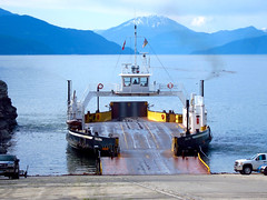 Upper Arrow Lakes Inland Ferry (Mariko Ishikawa) Tags: lake canada ferry highway britishcolumbia transportation kootenay