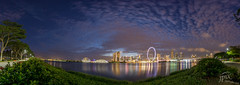 Blue hour & the city... (japinder!) Tags: panorama singapore 2016 gardensbythebay singaporeflyer marinabaysands sony1018mmf4 sonya6000 fbcomjapindernet