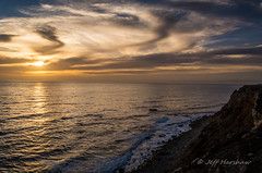 _0JH7320-1 (Jeff Harshaw) Tags: sunset clouds waves dusk cliffs pacificocean palosverdes pointvicente 1855mmvr nikond7100
