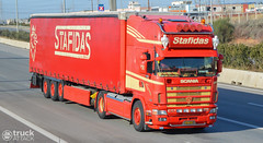Scania 164L 480 - Stafidas [Explore] (Avramidis_Alex) Tags: truck tl curtain transport hellas greece international lorry camion 164 480 gr v8 scania lkw topline  curtainsider 164l stafidas