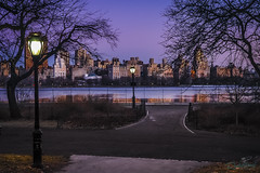Jacqueline Kennedy Onassis Reservoir • NYC (Rocketlandphoto.com) Tags: nyc sky water landscape colorful skies dusk centralpark manhattan scenic reservoir jacquelinekennedyonassisreservoir brandonjennings nycreservoir rocketlandphotography wwwrocketlandphotocom