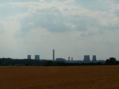 Towers In Terracotta (mdavidford) Tags: sky orange cloud field silhouette industrial power horizon towers farmland electricity crops generation chimneys coolingtowers hyperbolic didcotpowerstation littlewittenham didcota
