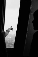 Shadows (De.Ha) Tags: city shadow blackandwhite bw white black monochrome silhouette canon dark noir belgium belgique noiretblanc bruxelles ombre wierd brussel blanc atomium intrieur eos500d