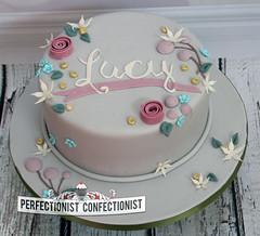 Lucy - Christening Cake / Naming Day Cake (PerfectionistConfectionist) Tags: christeningcake namingdaycake girlschristeningcake noveltycakedublin celebrationcakemalahide bespokecakeswords