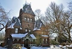 The Splendid Victorian (Trish Mayo) Tags: winter snow cemetery architecture greenwoodcemetery greenwood victorianhouse thebestofday gnneniyisi