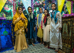 girls inside the bride and groom room for a wedding, Qeshm Island, Salakh, Iran (Eric Lafforgue) Tags: wedding girls people colour green childhood horizontal kids children religious colorful asia pattern iran bright decorative room muslim islam traditional religion decoration ceremony culture traditions marriage persia folklore celebration indoors ritual colourful ornate custom decor groupofpeople cultures abundance cultural islamic middleeastern persiangulf sunni elaborate qeshmisland hormozgan  bandari  5people  iro straitofhormuz  colourpicture  salakh irandsc03607
