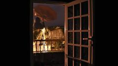 40/366: mary poppins (Andrea Alonso 366) Tags: door selfportrait me night umbrella spain 365 autorretrato vigo 366 longexposition