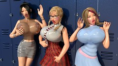 Sorority of Shiny, Squeaky Sextoys (Leticia Latex) Tags: sexy asian 3d big breasts shiny doll tits transformation boobs render rubber plastic huge latex cheerleader schoolgirl sextoy blowupdoll tf inflation 3dx inflated sexdoll lovedoll fucktoy