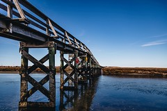 (Dacney) Tags: bridge seascape reflection water photography spring capecod massachusetts bridges newengland destination