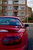 Mazda MX-5 Mk1 (leunkstar) Tags: auto red car japan rouge 50mm nikon rear wheels voiture na behind mazda rood miata jdm mx5 roadster carporn mazdamx5 mk1 niftyfifty nikon50mm d700 nikond700 mx5na