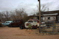 Oldtimers in Hackberry, Route 66, Arizona (sensaos) Tags: travel arizona usa abandoned car america us route66 rust decay rusty 66 route forgotten rusted ghosttown oldtimer derelict abandonment 2014 hackberry sensaos amserica