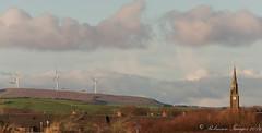 Old and new_ (.Robinson Images) Tags: uk tower clock church scotland windmills ayrshire saltcoats