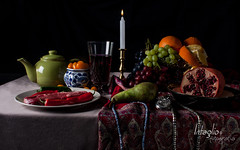 Old Master.. (Sheraz Shaukat (Intaglio)) Tags: stilllife black fruit canon painting studio photography scotland candle wine glasgow meat teapot fotografia oldmaster intaglio mycanon canon40d sherazshaukat intagliofotografia