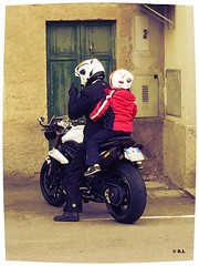 Father and son... And the beautiful (Stefano L []) Tags: bike speed father son best triumph moto padre bikers speedtriple figlio motocicletta
