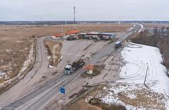 Welcome to Estonia (BlizzardFoto) Tags: estonia border latvia welcome aerialphotography checkpoint aerofoto teretulemast piir welcometoestonia piiripunkt teretulemasteestisse