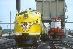 C&NW F7 421 (Chuck Zeiler) Tags: railroad locomotive chz f7 421 emd cnw