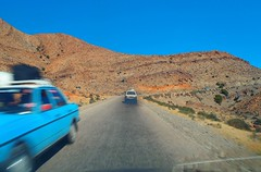 Morocco (denismartin) Tags: road blue sahara car taxi roadtrip agadir morocco maroc marruecos ontheroad imazighen antiatlas tiznit berbere berbers tafraout ammeln denismartin