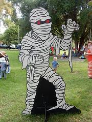Bandage Man (mikecogh) Tags: installation figure hackney mummy bandages kidzone womadelaide botanicpark womad2016