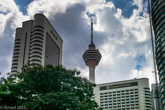 Cloudy KL Skyline... (EHA73) Tags: leica travel skyline clouds buildings hotel cityscape cloudy towers malaysia kualalumpur kltower shangrilahotel leicamp summiluxm11450asph typ240