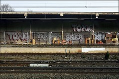 Toxic / Dets / Sner / Yan (Alex Ellison) Tags: urban toxic graffiti boobs railway nhs yan graff trackside dds tox cbm dets sner
