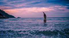 Strech your summer ( Ruy Pereira) Tags: sunset sea summer brazil seascape beauty brasil girlfriend purple gorgeous dream mermaid mygirl vibe biquini