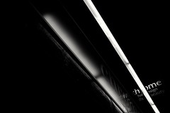 Illuminator - 53 (L D Middleton) Tags: light blackandwhite bw monochrome shop hair lights fuji chrome strip fujifilm salon hairdressers illuminator droylsden x100t ldmiddleton