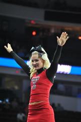 RED RAIDER CHEERLEADER (SneakinDeacon) Tags: basketball cheerleaders tournament butler ncaa bulldogs texastech marchmadness big12 bigeast redraiders pncarena