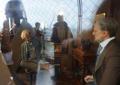 Eiffel And Edison (trailrunner55) Tags: travel paris france reflection apartment eiffeltower waxfigure thomasedison gustaveeiffel frenchhistory