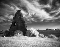 Hadleigh CastleEfke 820IRP6X7 (danny.rowton) Tags: castle moody spooky hadleigh pentax6x7 infraredfilm hadleighcastle efke820ir