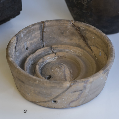 Roman ceramic cheesepress from Balmuildy fort