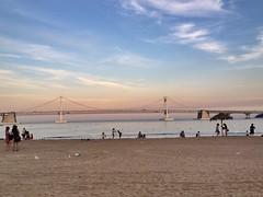Gwangalli Beach (addisonsong) Tags: ocean summer beach busan settingsun gwangllibeach