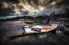 Tobias and friends (The Unexplored) Tags: 3 photoshop boats harbor key shot harbour low hdr lightroom stornoway photomatix tonemapped unexplored grimgit