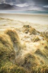 Passing Storm (Vemsteroo) Tags: longexposure blue light sea seascape storm beach nature beautiful rain hail canon coast scotland highlands dunes lewis 5d harris 24mm outerhebrides mkiii luskentyre 2470mm circularpolariser isleofharris bostadh visitscotland leefilters lovegreatbritain