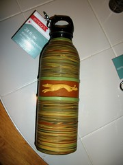 Yellow-Green Water Bottle (got-clay) Tags: greyhound polymerclay waterbottle