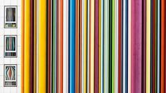Cdigo de barras (sgsierra) Tags: windows paris color arquitectura europa ventanas francia detalles ladfense lineas cdigo