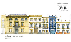 Seville,  Triana (gerard michel) Tags: architecture sketch sevilla spain espana triana croquis lvation