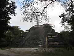 """Tikal: le Sloping Panel Temple, le deuxième plus large temple de Tikal et dont certaines caractétistiques architecturales rappellent Teotihuacan. <a style=""""margin-left:10px; font-size:0.8em;"""" href=""""http://www.flickr.com/photos/127723101@N04/26145644432/"""" target=""""_blank"""">@flickr</a>"""