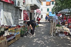 going to the market :) (green_lover) Tags: people buildings shopping town market croatia trogir stands