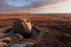 Margery Stones Sunset (Paul Newcombe) Tags: uk sunset england landscape march rocks outdoor derbyshire peakdistrict hill moors moorland gritstone southyorkshire howden 2016 sidelight howdenmoors highstones wilfreyedge margerystones paulnewcombephotography canon1635f4l