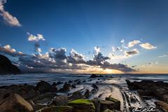 Light flow (Clear Of Conflict) Tags: ocean sunset sea espaa naturaleza sun sunlight seascape nature clouds landscape mar spain rocks europe sundown dusk country bizkaia basque vasco euskadi pais euskal herria sopelana barrika euskalerria